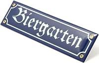 Biergarten Metal Road Sign by Oktoberfest Haus