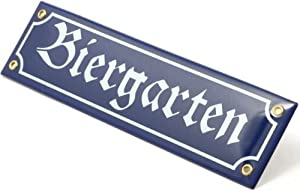 Biergarten Metal Road Sign by Oktoberfest Haus