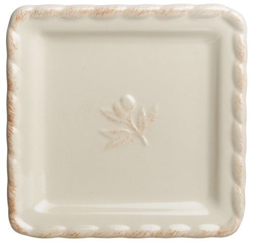 Buy Signature Housewares Napa Entertaining 6-Inch Square Plates, Ivory, Set of 6