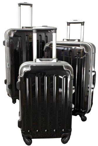 Polycarbonat-ABS-Kofferset Dublin 3tlg schwarz