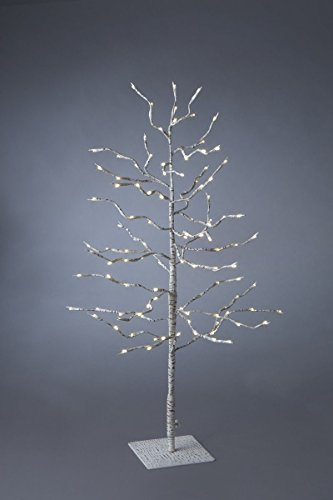 3Ft White Birch Tree With Clear Led Lights Ul Adapter Included Christmas Decor