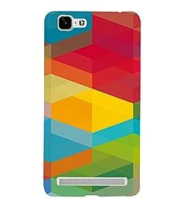 PrintVisa Colorful Cubical Pattern 3D Hard Polycarbonate Designer Back Case Cover for VivoX5MAX