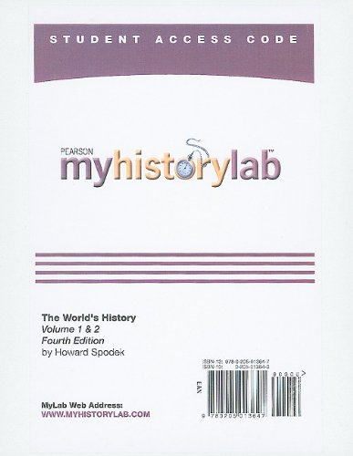 MyHistoryLab -- Standalone Access Card -- for The World's...