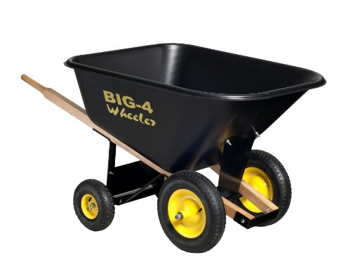 Big 4 Wheeler Heavy Duty Wheelbarrow, 10 Cubic Feet (Wheelbarrow 10 Cubic Feet compare prices)
