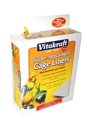 Vitakraft 512071 7-Pack Super Absorbent Cage Liners For Birds front-758269