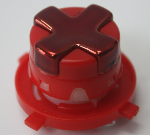 Chrome Red W Red Transforming/Transformer D-Pad For Xbox 360 Controller (Rotating Dpad)