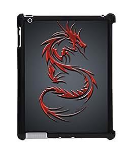 Fuson 2D Printed Dragon Pattern Designer Back Case Cover for Apple iPad 2 - D966