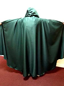 Dark Green Polyester Twill Adult Cloak - Legoslas/Frodo/Lord Of The Rings/LOTR/Pirate/Arwen/Pagan/Halloween