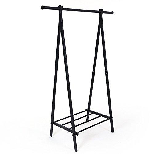 Songmics Portabiti Stand Appendiabiti Attaccapanni in Ferro 108 x 48 x 150 cm Nero LLR11B