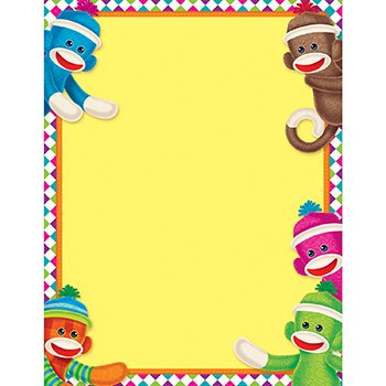 Sock Monkeys Learning Chart - 1