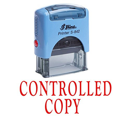 CONTROLLED COPY Self Inking Rubber Stamp Office Stationary Custom Shiny Stamp
