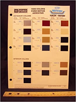86 ford paint colors for Ford motor paint colors