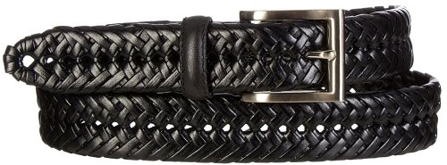 Boca Classics Braided Leather Casual Belt 32 Black