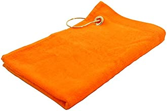 Finger Touch - Golf Towels - Orange - 15x18 - Corner Grommet amp Hook