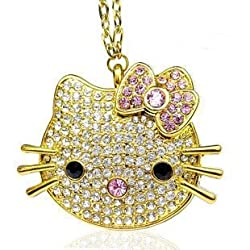 Wewdigi 64GB Hello Kitty Crystal Jewelry USB Flash Memory Drive with Necklace +gift box