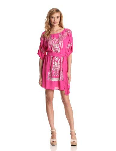 Yoana Baraschi Women's Silver Moon Gypsy Dress, Passion Pink, Small