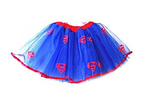 Rush Dance Superhero Halloween Girls DressUp Princess Fairy Costume Recital Tutu (Superman) (Dancing Shark Costume compare prices)