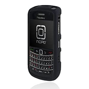 Incipio BlackBerry Bold 9650 EDGE Hard Shell Slider Case - 1 Pack - Carrying Case - Retail Packaging - Black w/ Holster