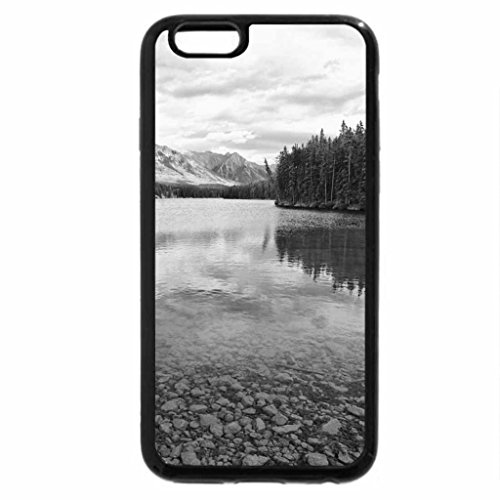 iPhone 6S Plus Case, iPhone 6 Plus Case (Black & White) - Lake Johnson Banff, Canada