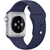 Apple Watch Band,Covery Soft Silicone Fitness Replacement Sport Band For Apple Watch (38mm/Midnight Blue)