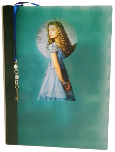"Disney Diary with Bookmark - Tea Party with Alice - Product has Alice and Talking Flower Watermark - 6.0"" x 8.0"" - 1"