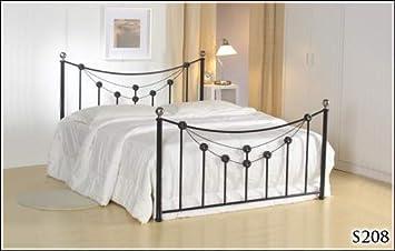BRAND NEW 5ft METAL BLACK KING SIZE BED FRAME AND SLUMBER SLEEP ORTHOPAEDIC ORTHO MATTRESS