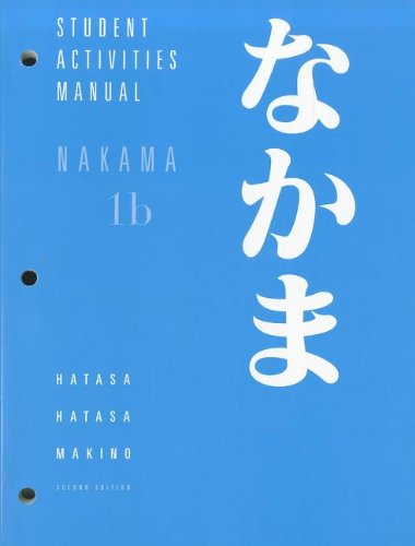 Student Activities Manual for Hatasa/Hatasa/Makino's...