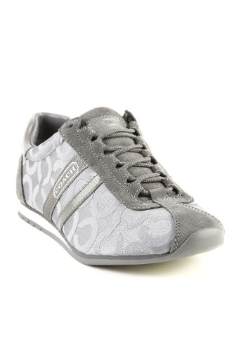 Coach Women's Kathleen Round Toe Sneakers in Graphit / Gray