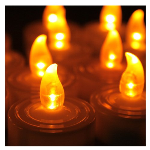 Meco Battery-Powered Smokeless Flameless Led Tealight Candles Halloween Party Decor Set Of 18