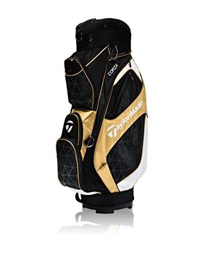 Taylor Made Golftasche Corza Cart Bag schwarz/gold/weiß