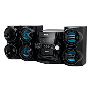 RCA 500W 5-CD Mini System with Bluetooth Receiver
