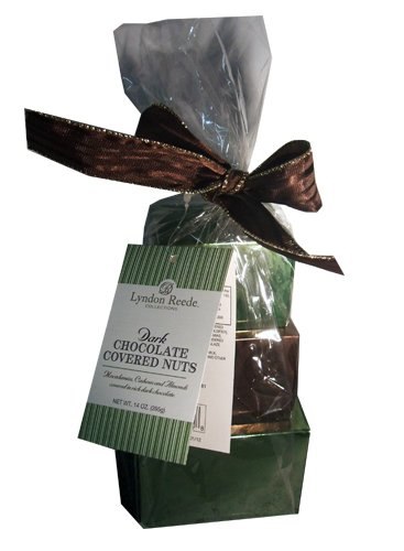 Lyndon Reede Collections Dark Chocolate Covered Nuts Christmas Holiday Gift Tower