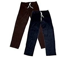 IndiWeaves Women Super Combo Pack 4 (Pack of 2 Lower/Track Pant and 2 T-Shirt)_Brown::Brown::Black::Blue::White_XL