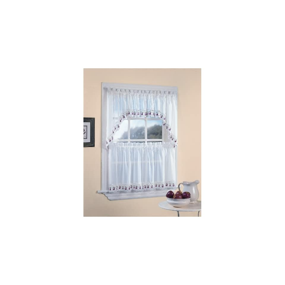 Red Apples Country Kitchen Curtain Tier Set 24 36 In Home