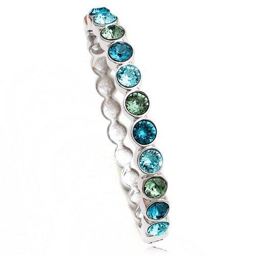 Bule Crystal Bangle Bracelet for Women Novelty