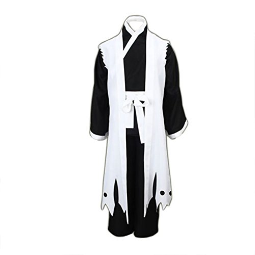 Bleach Cosplay Costumes Zaraki Kenpachi 11th Division Captain 3rd Ver, White