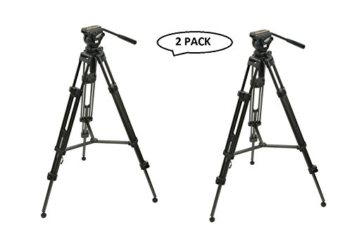 Magnus Vt-4000 Professional High Performance Tripod System With Fluid Head (2 Pack)