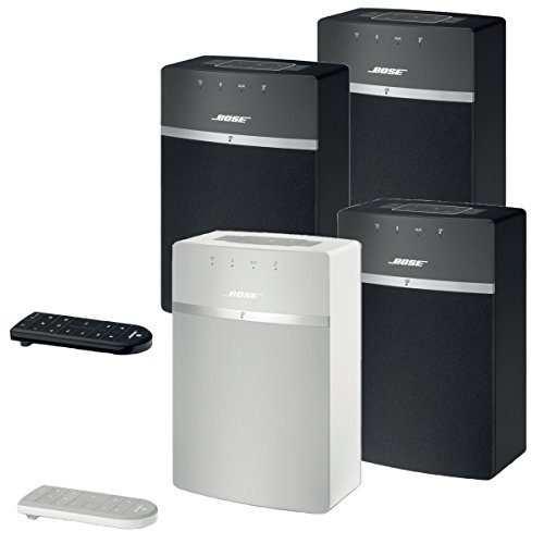 Bose SoundTouch 10 Wireless Music System Bundle 4-Pack - 3 Black and 1 White
