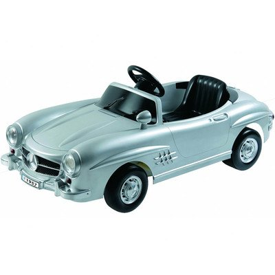 Kalee Silver Mercedes 300SL w198 6 Volt Battery Operated Riding Toy