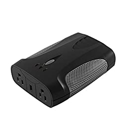 CyberPower CPS750AI 750 Watt Mobile Power Inverter with USB Charging Port and 2 AC Outlets