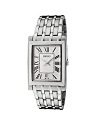 Seiko Men's SKP357 Off White Dial Stainless Steel Watch