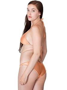 Culotte bikini taille basse en nylon tricot - Shiny Peach / XS