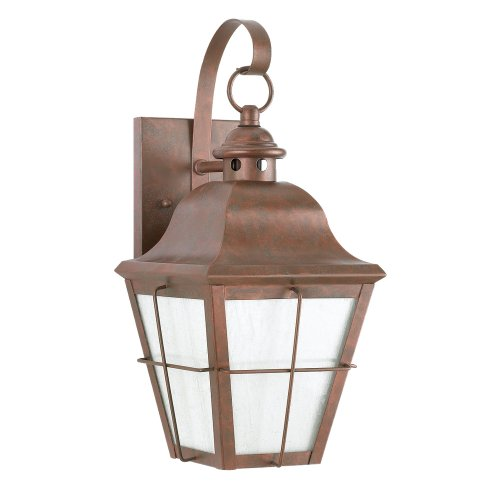 Sea Gull Lighting 8463D-44 Dark Sky Chatham Exterior Wall Sconce, Weathered Copper