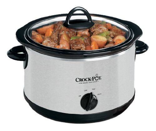 Crock-Pot SCR503SP 5-Quart Smudgeproof Round Manual Slow Cooker with Dipper, Silver (Crock Pot 5 Qt compare prices)