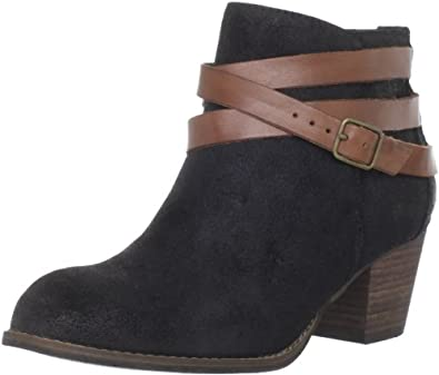 DV by Dolce Vita Women's Java Ankle Boot,Black Suede,6 M US