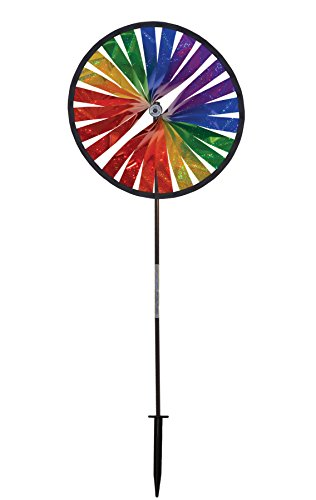 In the Breeze Rainbow Sparkle Spinner Wheel, 14-Inch