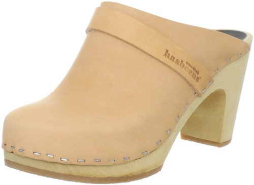 Swedish Hasbeens Slip in Super High 431, Zoccoli donna, Beige (Beige (Nature)), 38