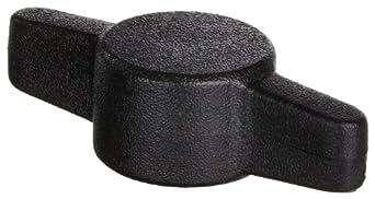Acetal Cap Screw Knob Wing 1/4-20, Black Color (Pack of 100)
