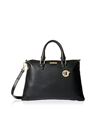 Versace Collection Women's Satchel, Black/Light Gold