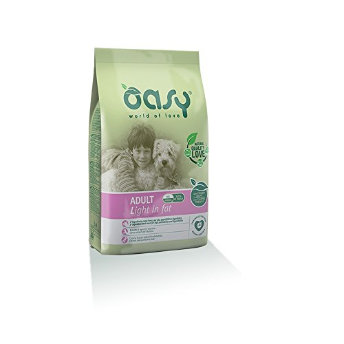 OASY Alimento secco per cane adult light in fat 12kg - Mangimi secchi per cani